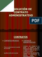 RA.resolución de Contrato Administrativo