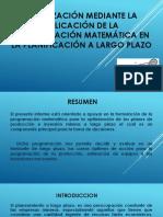 Optimización Mediante La Aplicación de La Programación Matemática