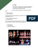 Clasificación de La Danza