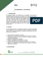 Conv 12 Plan de Emergencia y Contingencia Lp-pre-010-2016