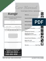 FGFS36FWB Range User Manual