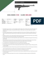 Ruger PC Carbine Spec Sheet