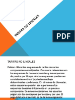 Tarifas No Lineales
