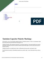 Tantalum Capacitor Polarity Markings