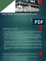 Fair Trial Due Process