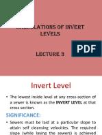 Module - 2 Invert Levels