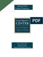 University Center Sioux Falls Student Handbook - Spring 2018