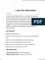 LIC Jeevan Labh Plan (836) Details