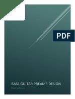 Bass Guitar Preamp Design