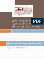 Chapter 09B, Hypothesis Testing With t and p