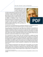 Carta de Jean Vanier Para La Navidad