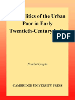 The Politics of the Urban Poor in Early Twentieth-Century India