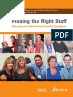 Pdd Fms Finding Staff