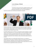28/Diciembre/2017  Priismo Sonorense Se Entrega a Meade