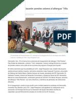 28/Diciembre/2017  Entrega Toño Astiazarán paneles solares al albergue Villa Paraíso