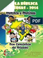 Escola Bíblica de Férias 2014 - Meninos e Meninas nos Caminhos da Missão