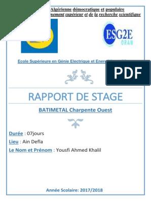 Rapport De Stage Industries Ingénierie