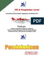 P. Sadjuga - Kebijakan Kemenristekdikti tt HKI dan Pengelolaan Jurnal UAD 3 November 2017.pdf