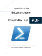 Powershell Commandlets - BitLocker Module