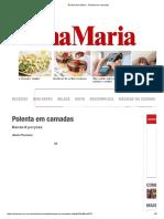 Revista Ana Maria - Polenta Em Camadas