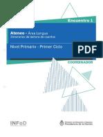 Primaria Ateneo Didáctico 1 Primer Ciclo Lengua Carpeta Coordinador