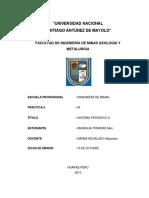 Introducción al sistema periódico II (laboratorio)