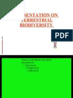 Terrestrial Biodiversity t Thukral