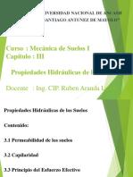 Mecánica de Suelos I - Cap III - Propiedades Hidráulicas.ppt