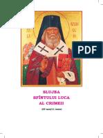 Slujba Sf Luca Al Crimeii