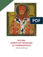 Slujba Sf Teodosie Cernigov