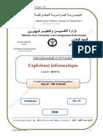 Programme Étude Technicien Exploitant en Informatique.