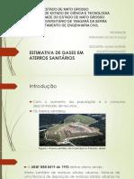 Estimativa de Gases Em Aterros Sanitários