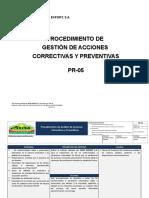PR-05 Acciones Correctivas y Preventivas