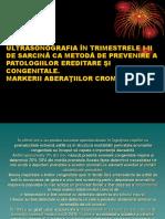 Ultrasonografia În Trimestrele I-II de Sarcină CA Metodă