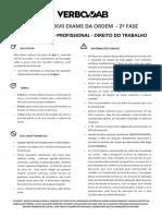 Simulado Trabalho Verbo Jurídico PDF