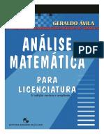 Análise Matemática para Licenciatura - Geraldo Ávila