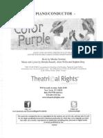 Color Purple Score