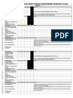 30 day Workout Sheet