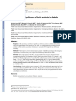 Prevalence and Significacnce of Lactic Acidosis in Diabetic Ketoacidosis