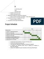 Energy Save Scope of Work & Project Schedule