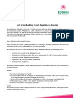 EDTRIN HDC Halal Awareness