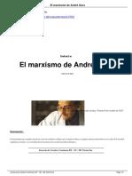 El Marxismo de Andr Gorz a13081