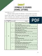 Lesson 6 Vowel Letters