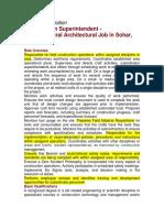 Bechtel Job Description Construction Superintendent