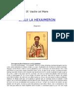 Sf Vasile Hexaimeron