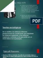 Teorías Sociológicas Parsons