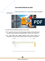 Corp Academia WebLabs User Guide