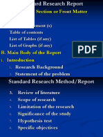 RM9. Research Method or Report