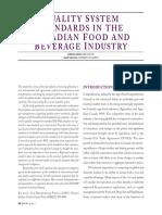 Normas de Sistemas de Calidad en La Ind. Alim. y Bebidas Canadiense