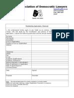 Nadel Membership Application Form 050309 Doc(New)